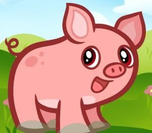 рисунок свинья 3