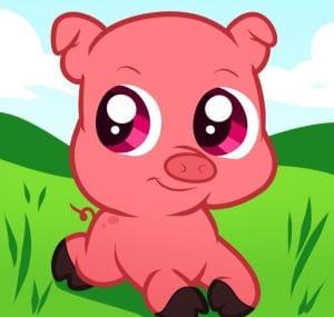 рисунок свинья 4
