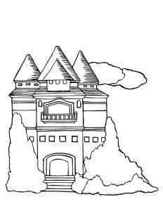 раскраска замок 2