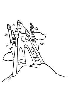 раскраска замок 4