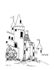 раскраска замок 6
