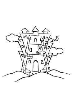 раскраска замок 9
