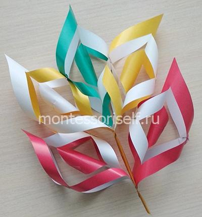 Осенний кленовый лист из бумаги