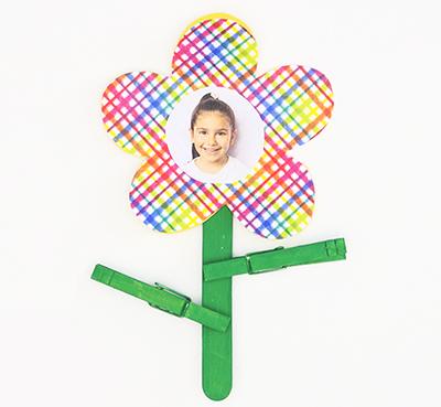 Цветок с фотографией ребенка