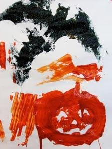 Детский рисунок Хэллоуин