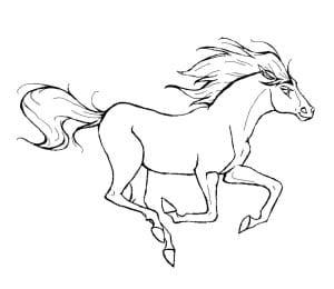 Раскраска лошадь 1