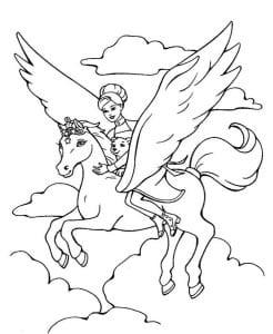 раскраска лошадь для девочек 2