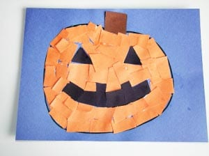 Halloween appliqué piece of paper