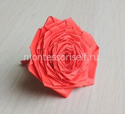 Розочка оригами на День Матери