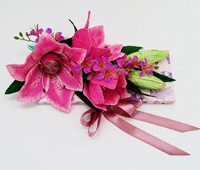 Шоколадка с цветами в подарок для мамы