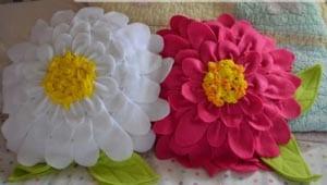 Красивые цветы из ткани своими руками