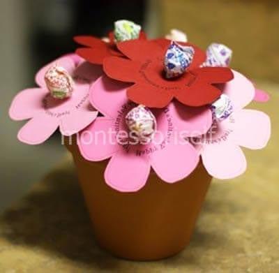 Букет цветов-конфеток