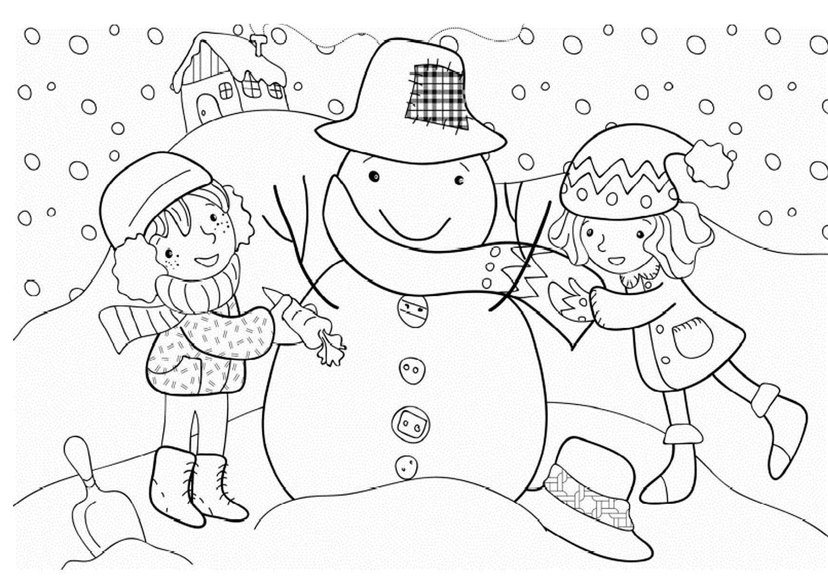 Животное, зимние картинки для детей раскраски