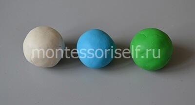 Катаем три шарика