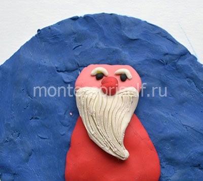 Лицо и борода из пластилина