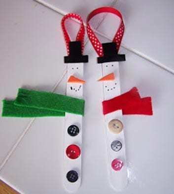Новогоднее украшение снеговик 1
