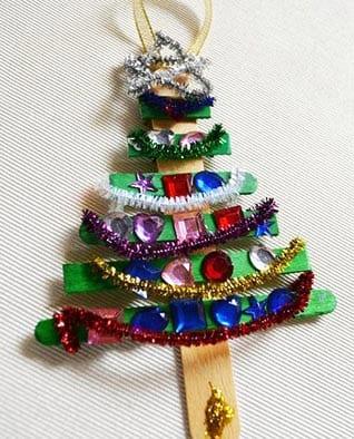 Новогоднее украшение елка со стразами