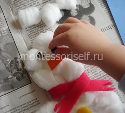 apsn4 Поделка снеговик своими руками