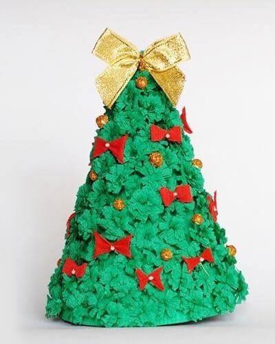 eb22 Новогодние елки из цветной бумаги своими руками: 10 идей поделок к Новому году