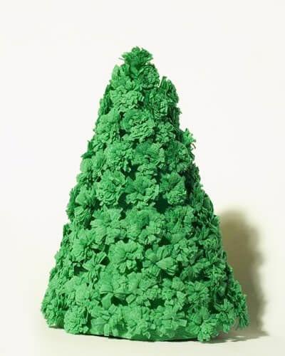 eb25 Новогодние елки из цветной бумаги своими руками: 10 идей поделок к Новому году