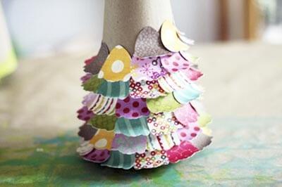 eb27 Новогодние елки из цветной бумаги своими руками: 10 идей поделок к Новому году