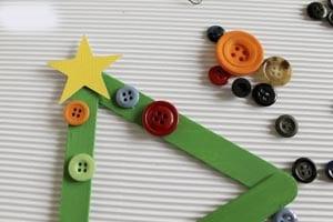 Поделка из палочек от мороженого новогодняя елка 7