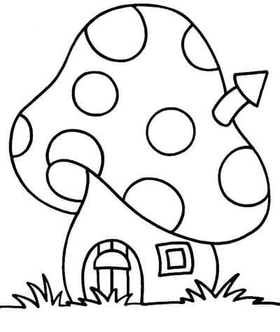 Мухомор раскраска для детей