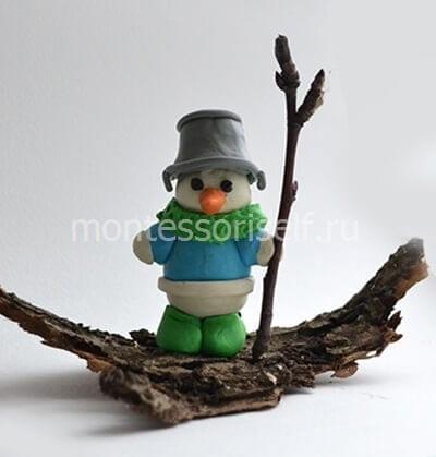 Пластилиновый снеговик своими руками