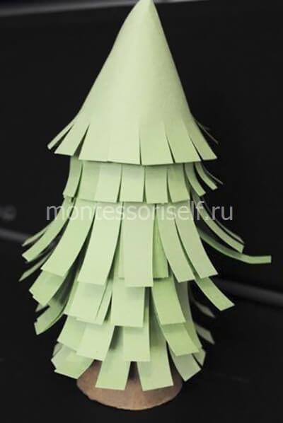 ne111-2 Новогодние елки из цветной бумаги своими руками: 10 идей поделок к Новому году