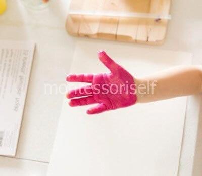 Наносим на ручку краску