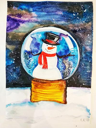 Снеговик в волшебном шаре