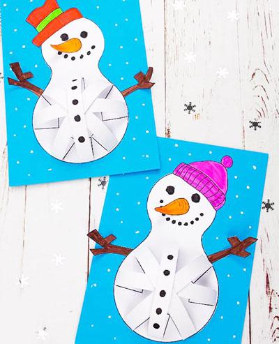Снеговики с бумажными полосками