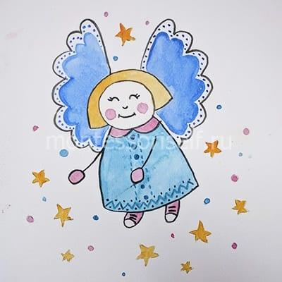 Ангел рисунок для детей
