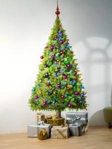 Новогодняя елка картинка для детей 1