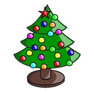 Новогодняя елка картинка для детей 9