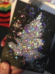 Новогодняя открытка елочка своими руками 5