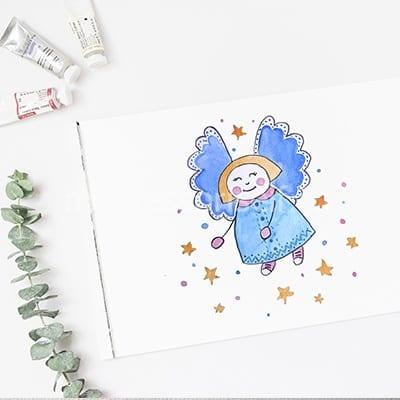 Ангел на рождественскую открытку