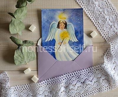 Рождественская картинка с ангелом