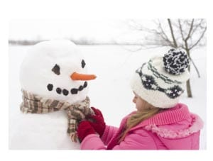 Winter fun - sculpt the snowman