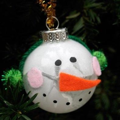 Елочный шар-снеговик