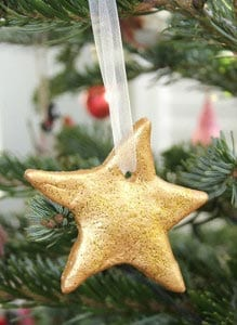 Украшение на елку звездочка из соленого теста