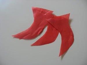 Языки пламени из бумаги