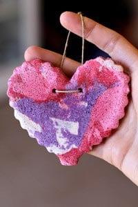 Поделка на День святого Валентина из соленого теста