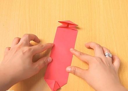 Объемный танк оригами 11