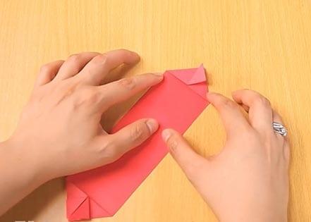 Объемный танк оригами 13