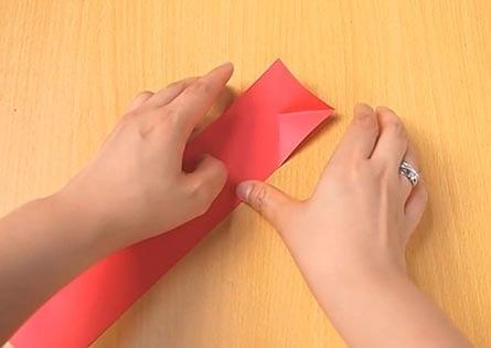 Объемный танк оригами 5