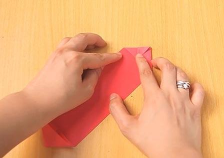 Объемный танк оригами 9