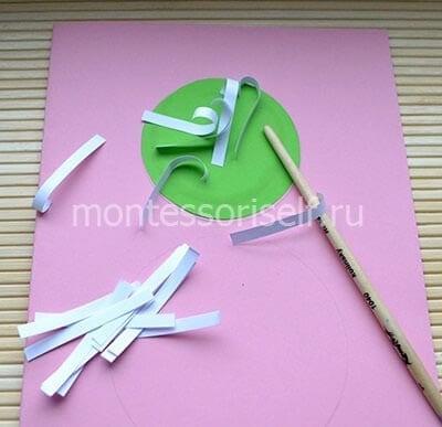 Делаем основу и заготовки из бумаги