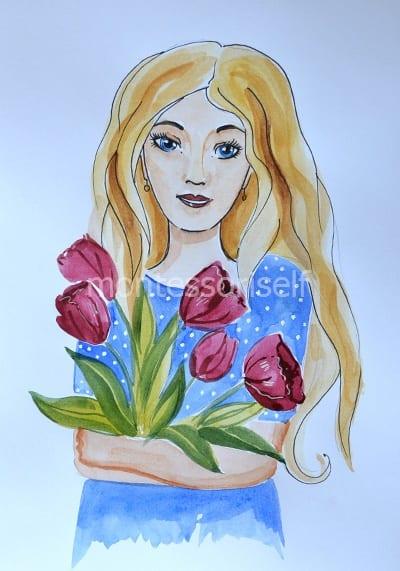 Рисунок для мамы на День Рождения