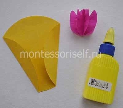 Склеиваем цветок тюльпана